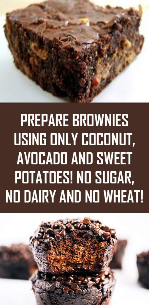 Prepare Brownies Using Only Coconut, Avocado and Sweet Potatoes! No Sugar, No Da... -
