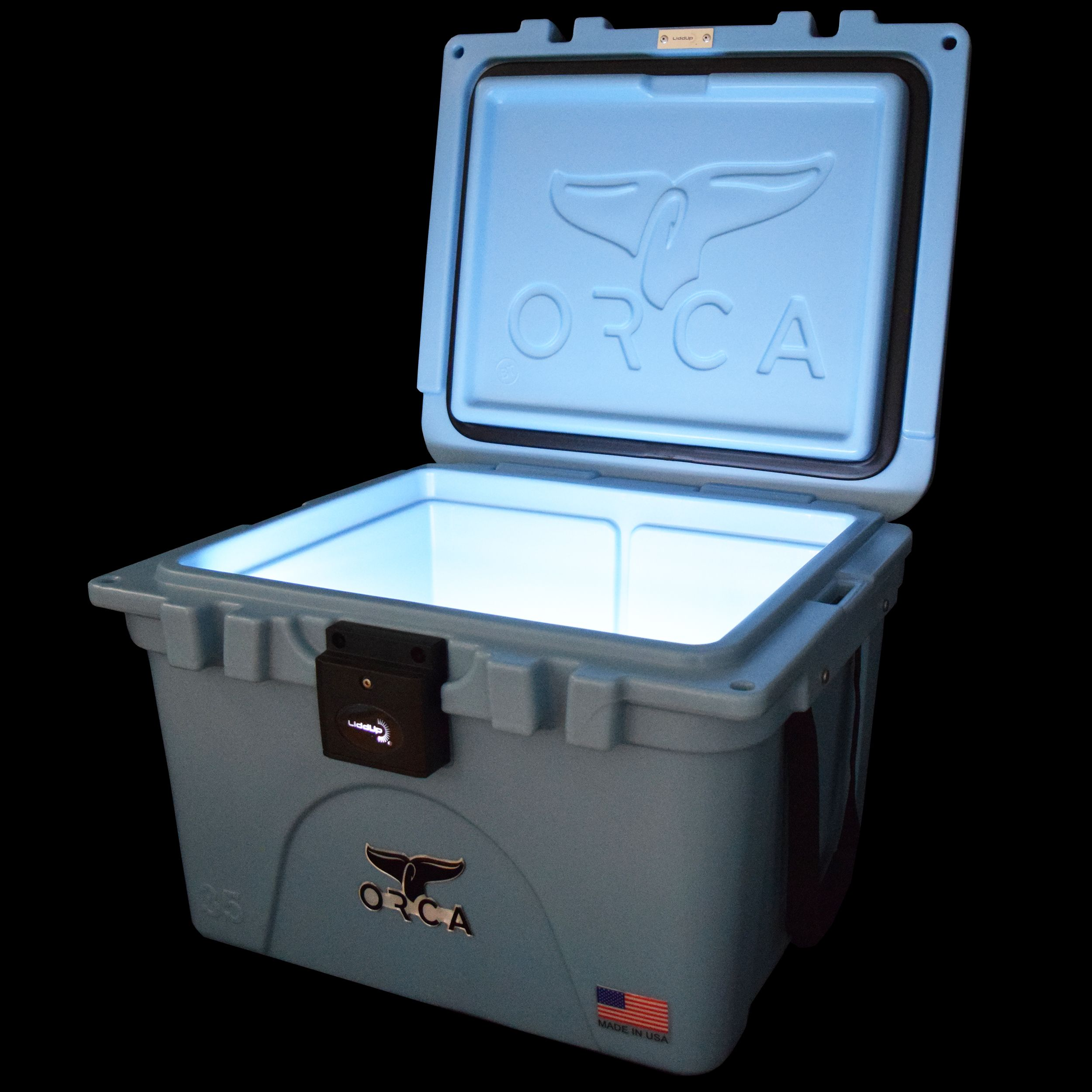 Introducing The Orca Liddup From Orca Coolers This 35 Quart Cooler Features Maximum Ice Cold Retention And Our Patented Led Orca Cooler Orca Interior Lighting