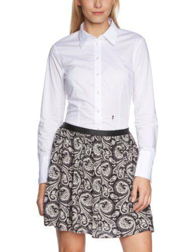 Seidensticker Damen Bluse Bodybluse Langarm slim fit uni bügelfrei Weiß  (Weiß 01) 36. Komfortable Slim Damen-Bluse von Seidensticker im  Body-Konzept. d5cd76059e