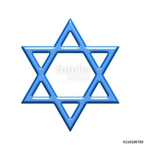 Star Of David Judaism Symbol 3d Rendering Illustration Circles