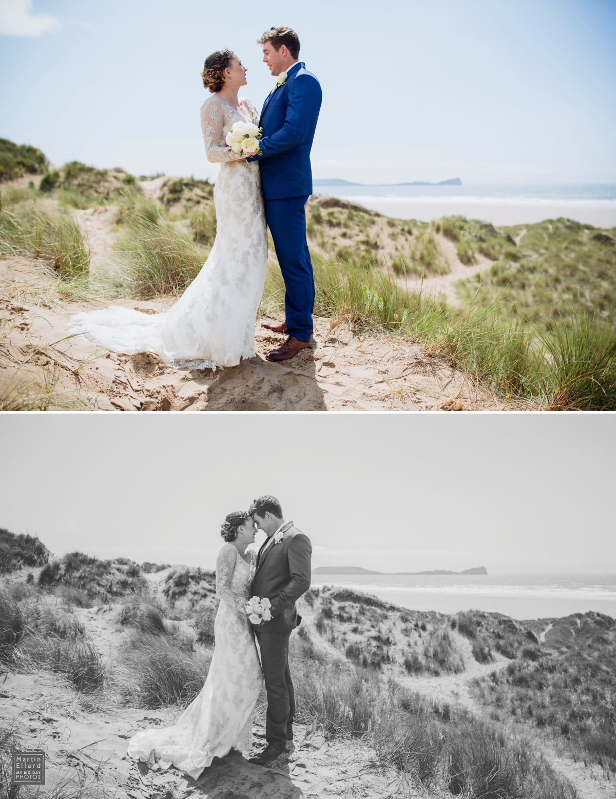 South Wales Wedding Photographer Oldwalls Gower Swansea Welsh Beach Llangennith