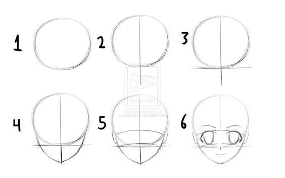 How To Draw Anime Heads Step By Step For Beginners Google Search