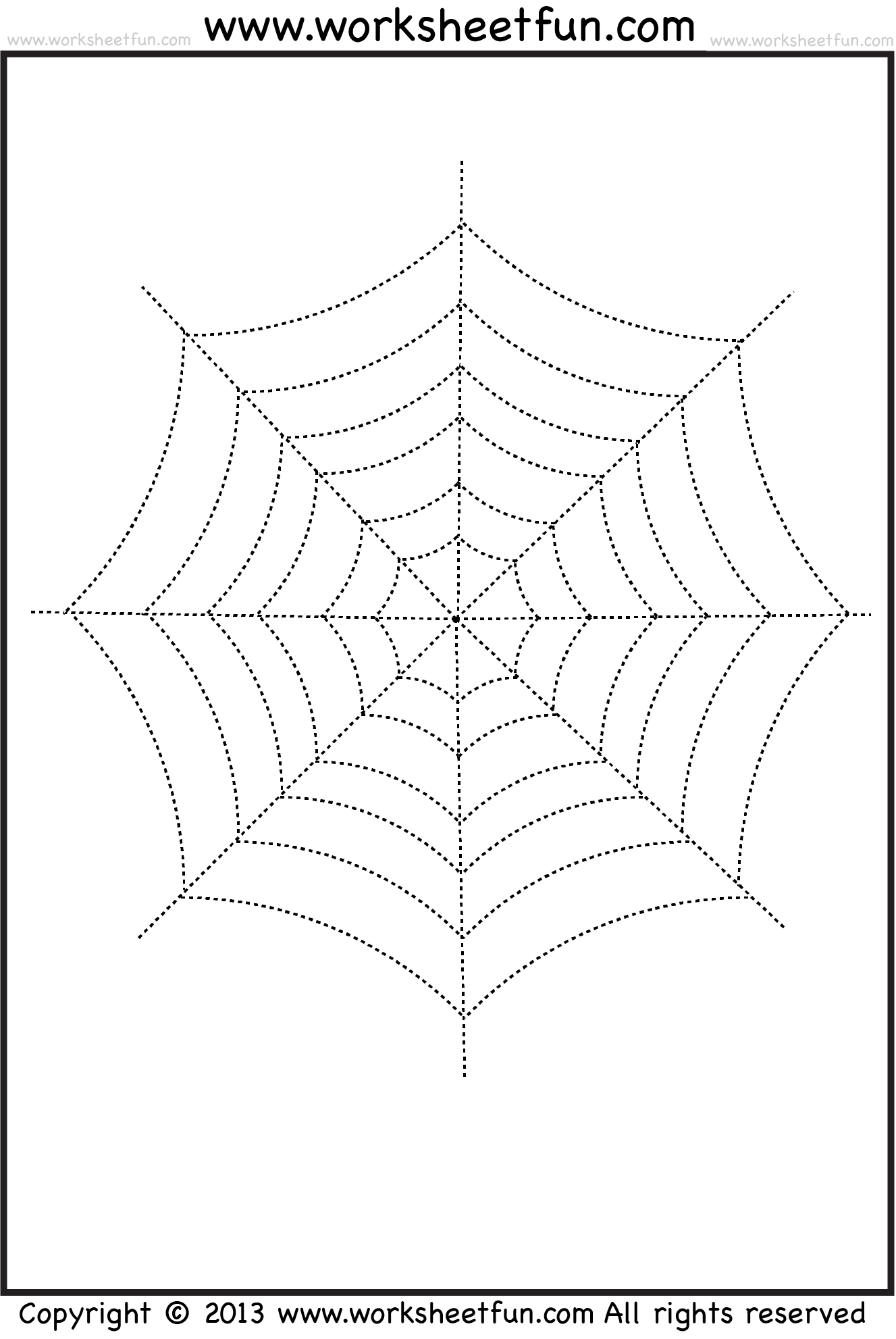 worksheet Spider Worksheets halloween tracing and coloring sheets preschool pinterest spider web 2 worksheets free