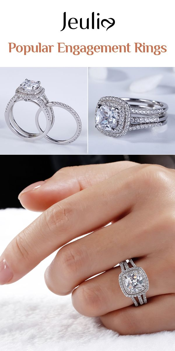 e1db269a5ff31 Check this out from jeulia! Double Halo Cushion Cut Sterling Silver ...