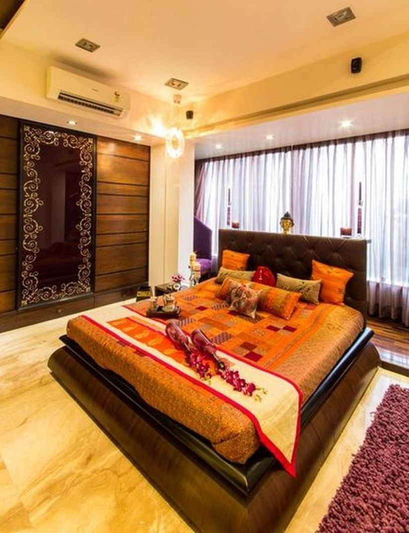30 Relaxing Modern Bedroom Design Decorating Ideas With Indian Style Trendhmdcr Modern Bedroom Modern Bedroom Design Indian Bedroom