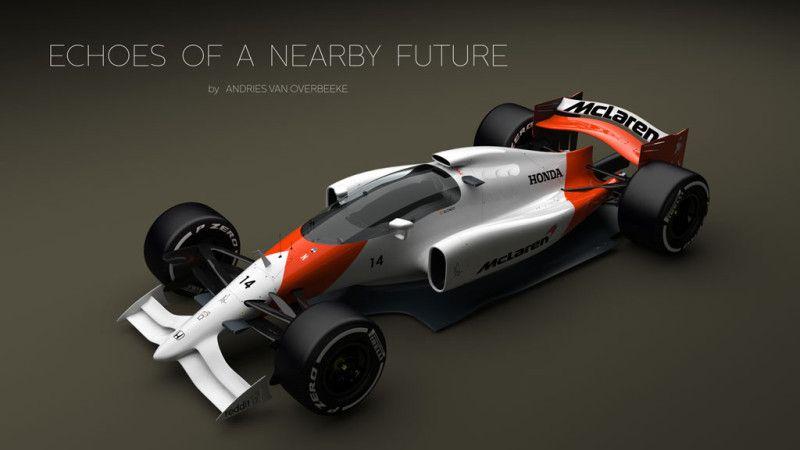 2019 Mclaren Honda F1 Car Closed Cockpit Concept Race Cars