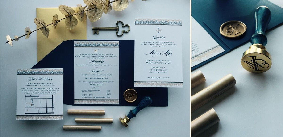 monogram wedding envelope seals sticker%0A Elegant Wedding Invitation Suite with Custom Monogram Wax Seal dripping in  gold and navy  wedding