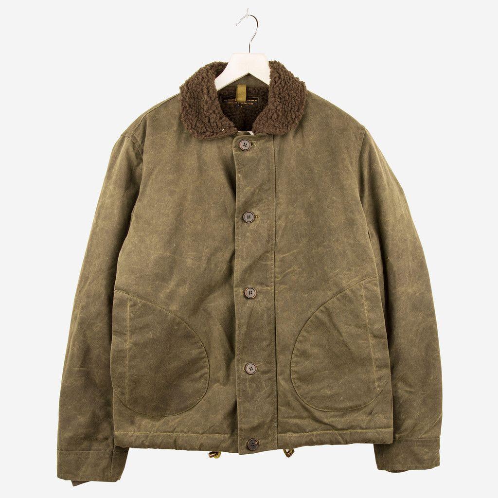 Freemans Sporting Club wax cotton deck jacket.. Jackets