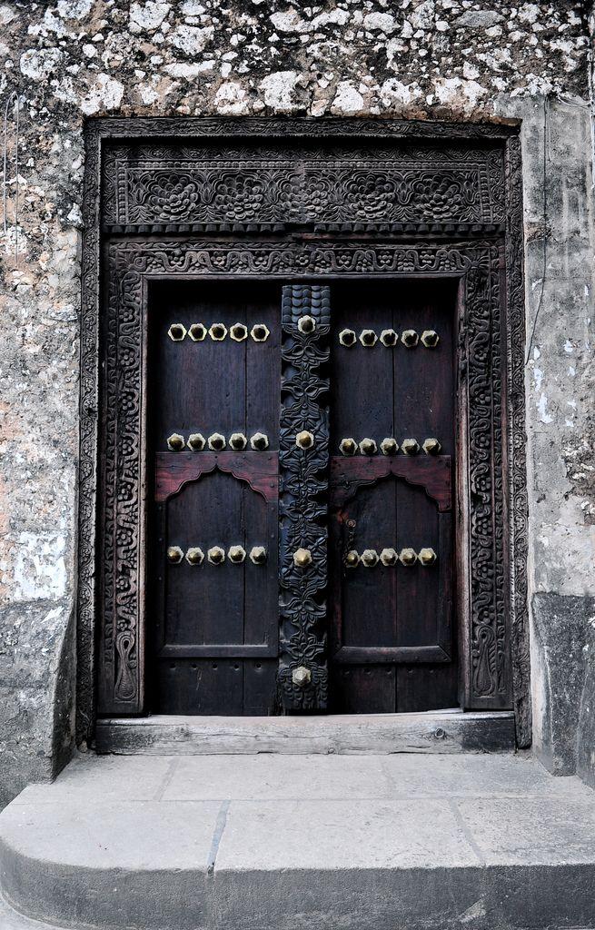 Doors Of Stone Town Zanzibar V Wood Doors Interior Doors Of Stone Stone Town