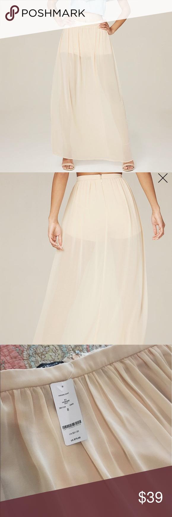 New bebe sheer long skirt bebe retail and shorts