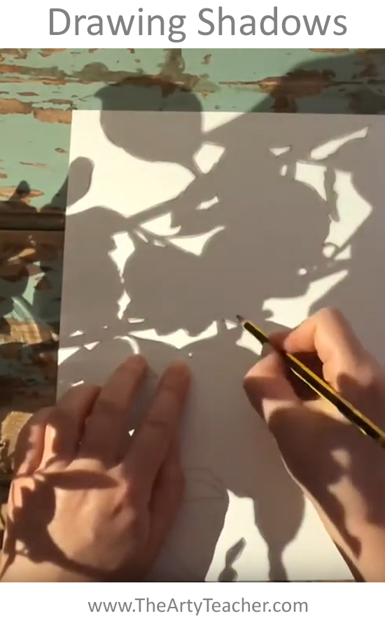 Creating with Shadows - Home Learning Video - Home Learning Art Project - The Arty Teacher