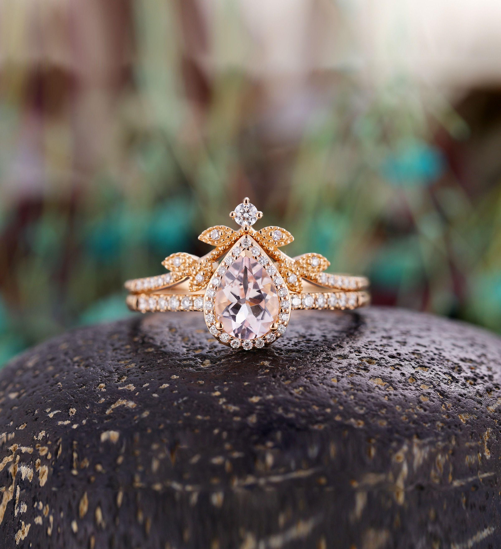 28++ Pear shaped bridal set rose gold information