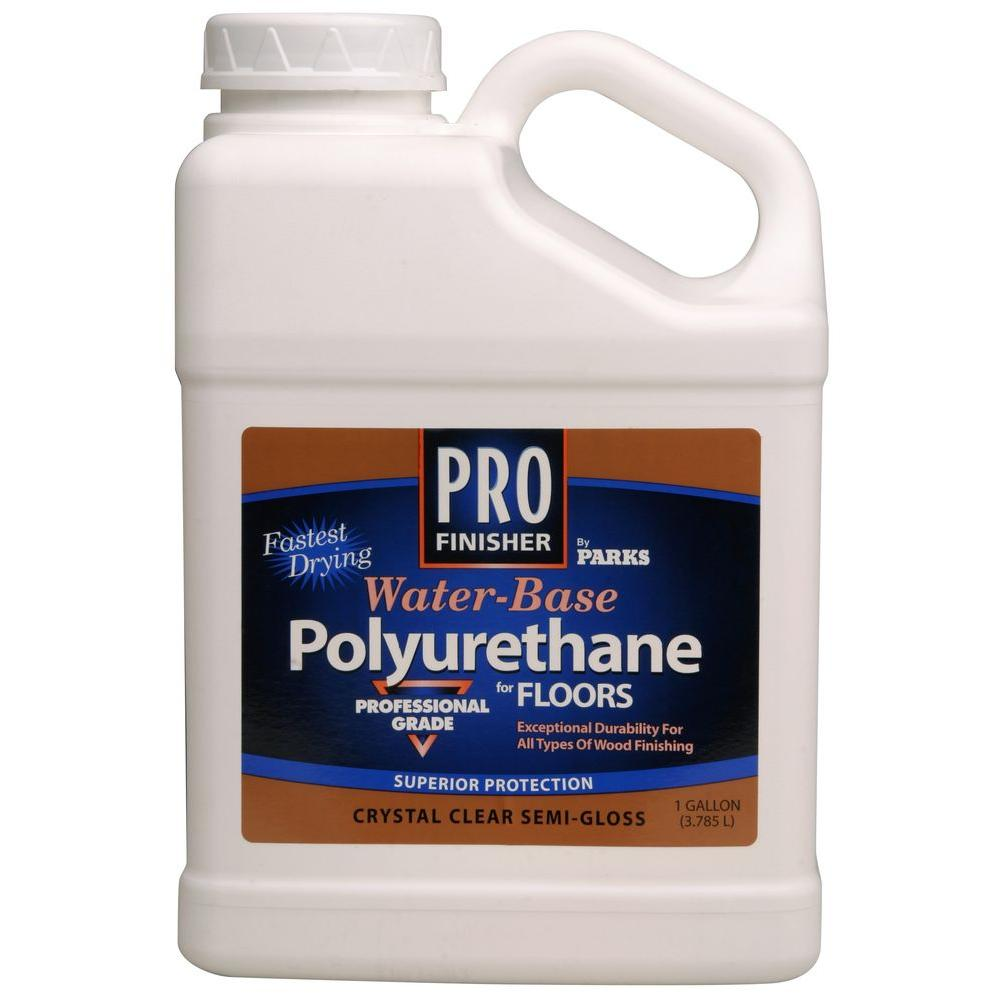 Rust Oleum Parks Pro Finisher 1 Gal Crystal Clear Satin Water Based Polyurethane For Floors 258690 Polyurethane Floors Rustoleum Oil Based Stain