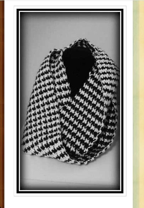 Houndstooth Scarf My Crochet Pinterest Houndstooth Scarf And