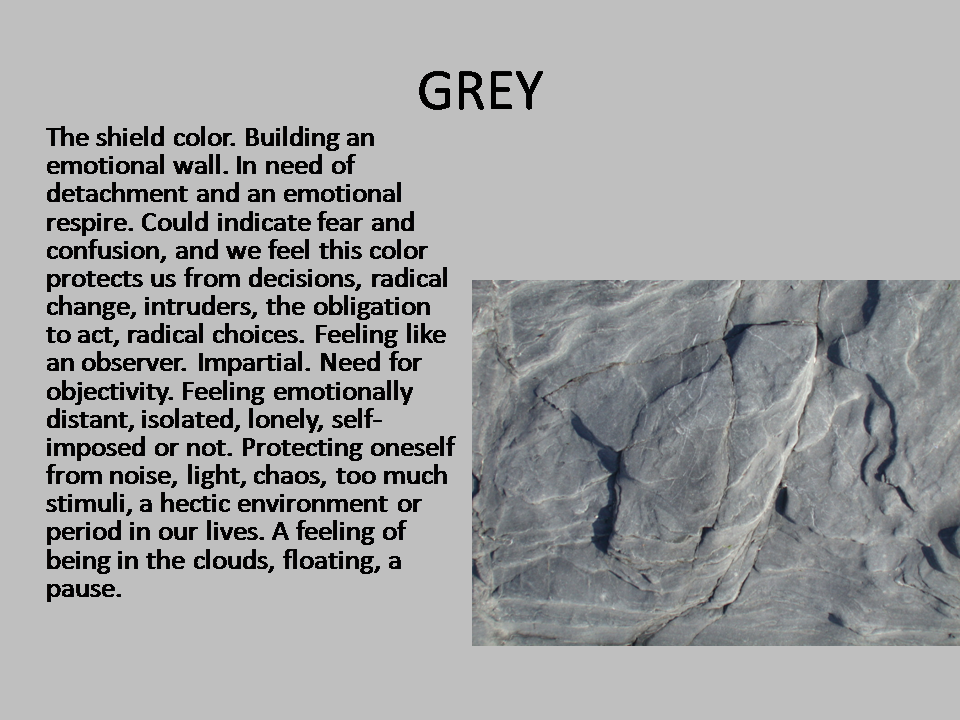 DREAMING IN COLORS: SYMBOLISM - GREY