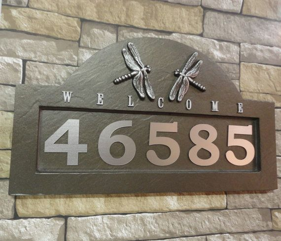 Georgiegirlstudios On Etsy House Numbers Craftsman House Numbers Address Plaque