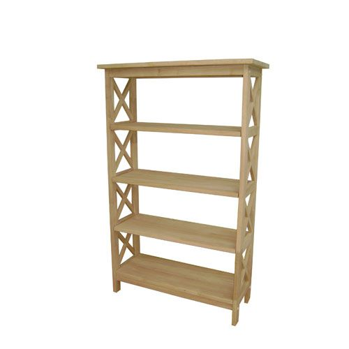 Unfinished Wood Four Tier