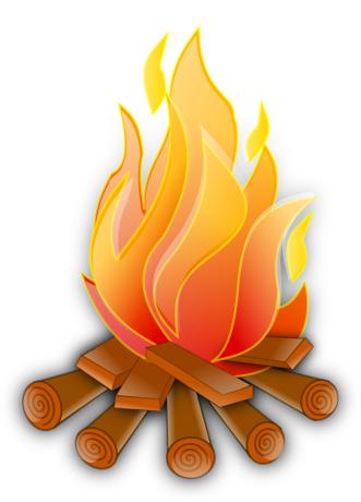 Campfire Flaming Free Clip Art Clip Art Camping Art