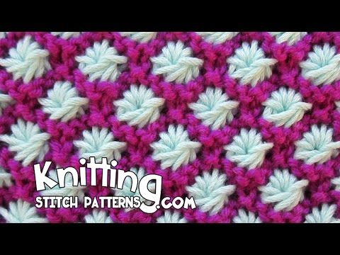 Астра узор Спицы This video knitting tutorial will help you learn how to knit the Aster stitch. Fast and Easy + For full written instructions, please visit link: http://www.k...