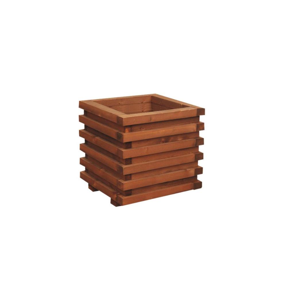 Donica Ogrodowa 34 X 34 Cm Drewniana Brazowa Wien Vitrum Werth Holz Donice Ogrodowe W Atrakcyjnej Cenie W Sklepach Leroy Merlin Wood Crafts Texture