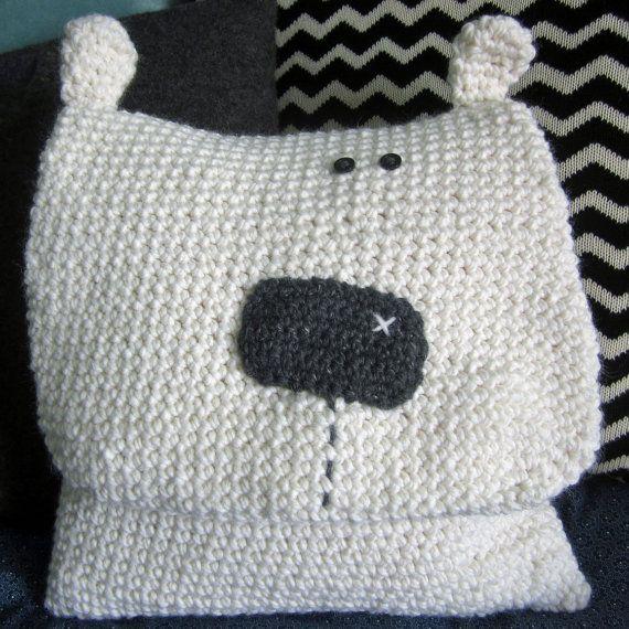 Crochet Pattern for Snowball the Polar Bear Pillow/ Pyjama Bag