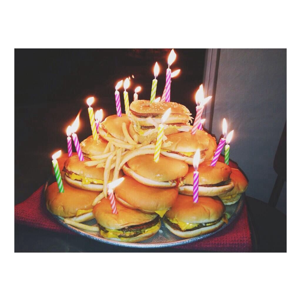 Marvelous Cheeseburger Tower Birthday Cake With Images Food Cool Funny Birthday Cards Online Inifofree Goldxyz