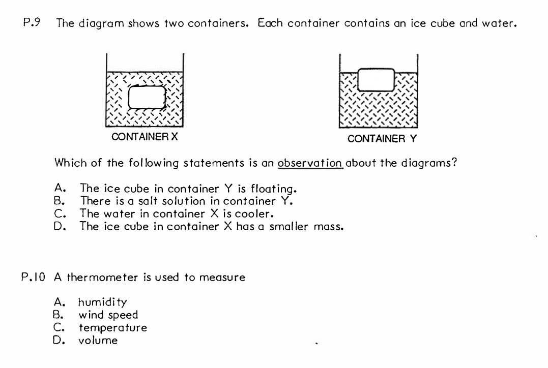 Science Grade 6 Process Skills Heating And Cooling Test Page 4