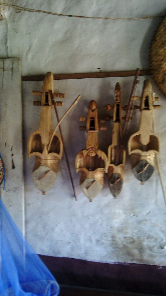 Large Sarangi (Nepali String Instrument) - Handcrafted and