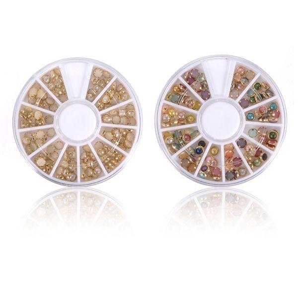 3d multicolor rhinestone de la perla de uñas de metal rueda la ...