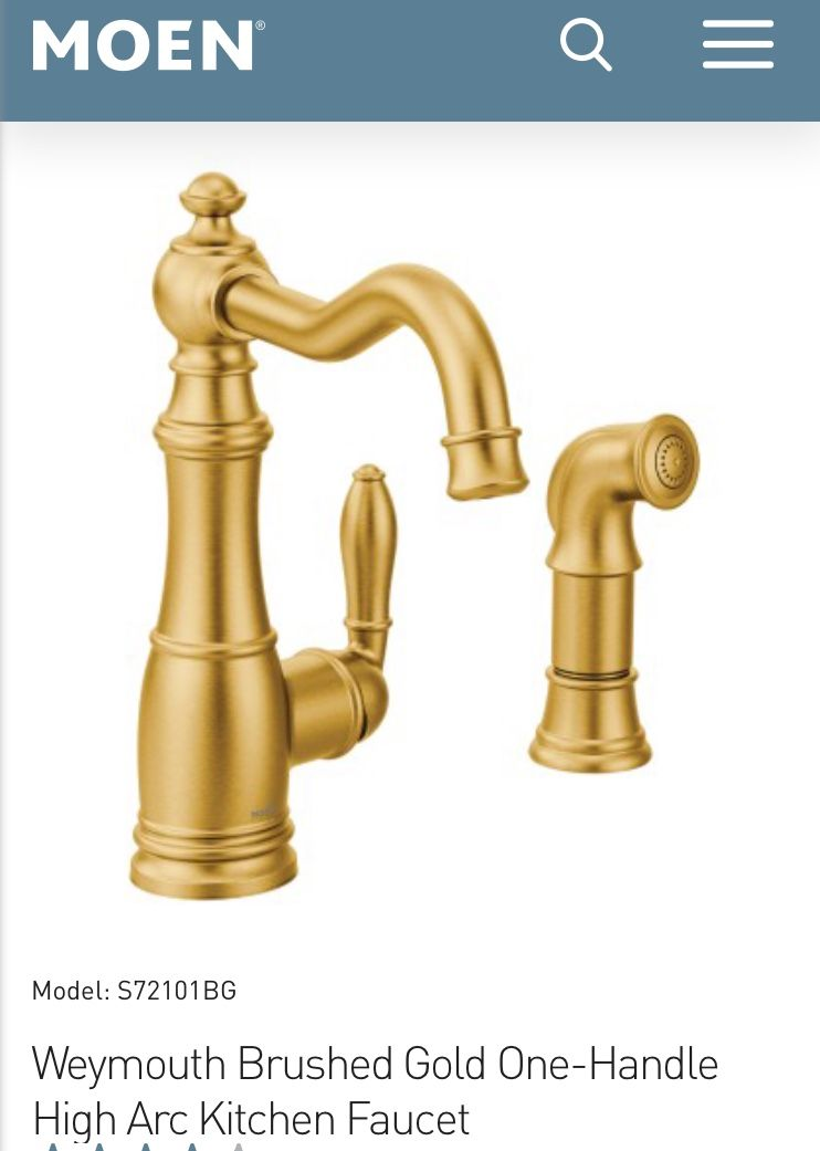 Weymouth Brushed gold two handle high