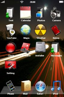 Download free Speed Road Colors IPhone Theme Mobile Theme