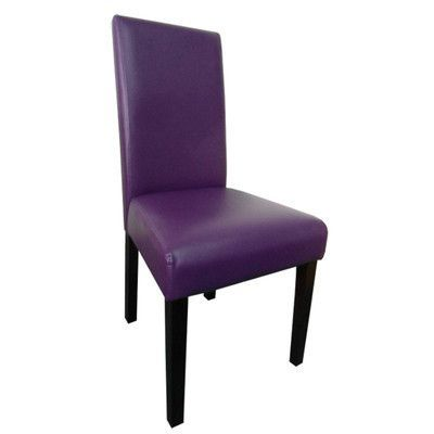 Latitude Run Aubrey Parsons Chair Upholstery: Boysenberry, Finish: Dark Brown