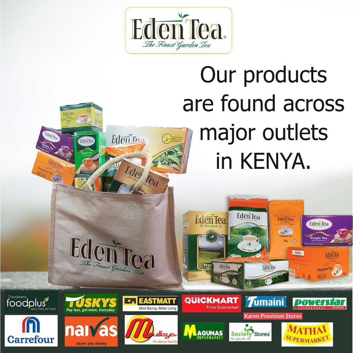 Our Products Are Found Across Major Outlets In Kenya Like Tuskys