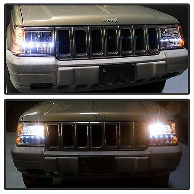 1993 1998 Jeep Grand Cherokee 6in1 Drl Led Headlights Corner Bumper Lights 93 98 Jeep Grand Cherokee 1998 Jeep Grand Cherokee Jeep