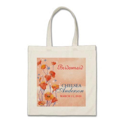 BridalHeaven Poppy Wedding Bridesmaid Gift Bags