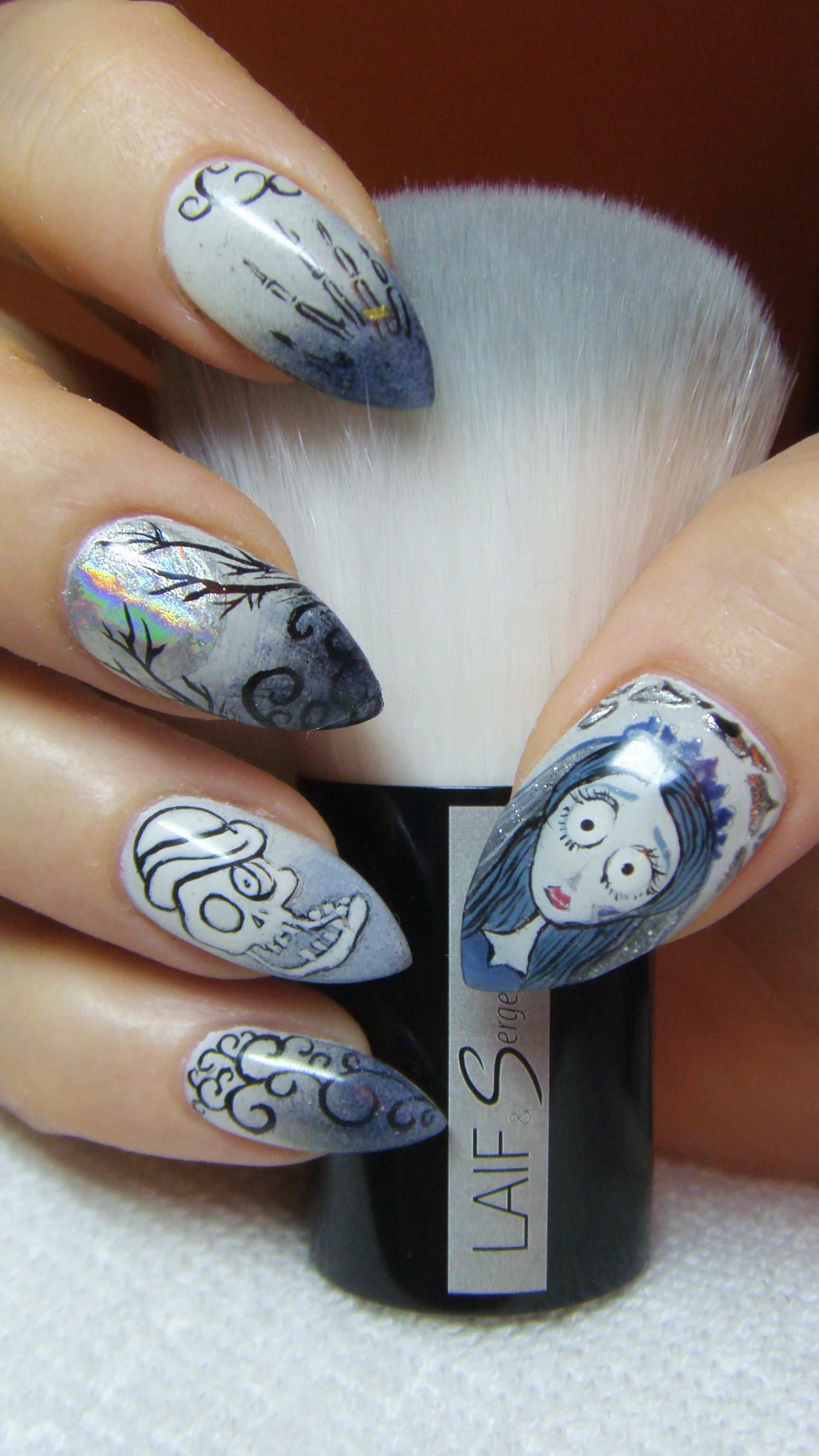 Corpse Bride Nails