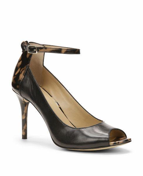 Viola Leather Ankle Strap Heels l Ann Taylor