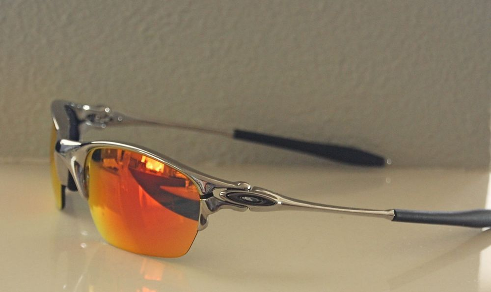 e797cab1ba91 New 100% Authentic Oakley X Metal / Half X Sunglasses Polished Chrome /  Ruby #Oakley #OakleyHalfXSunglasses