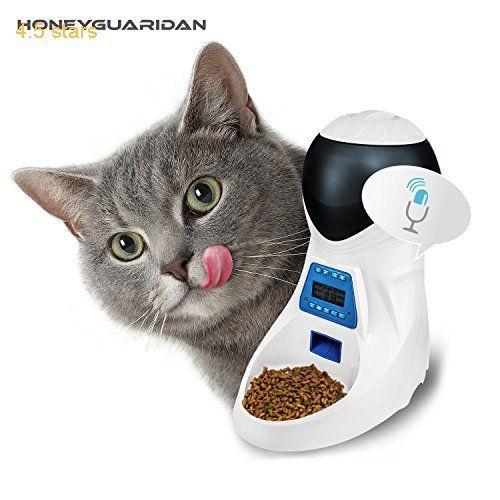 honeyguaridan a25 automatic pet feeder pet food automatic dispenser