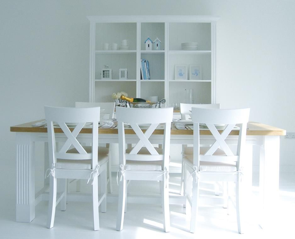 Latest Dining Tables Tablesnew England White Table With Oak Top