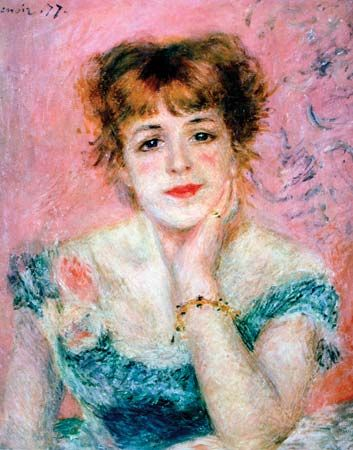 Impressionism:Portrait of the Actress Jeanne Samary is an oil ...