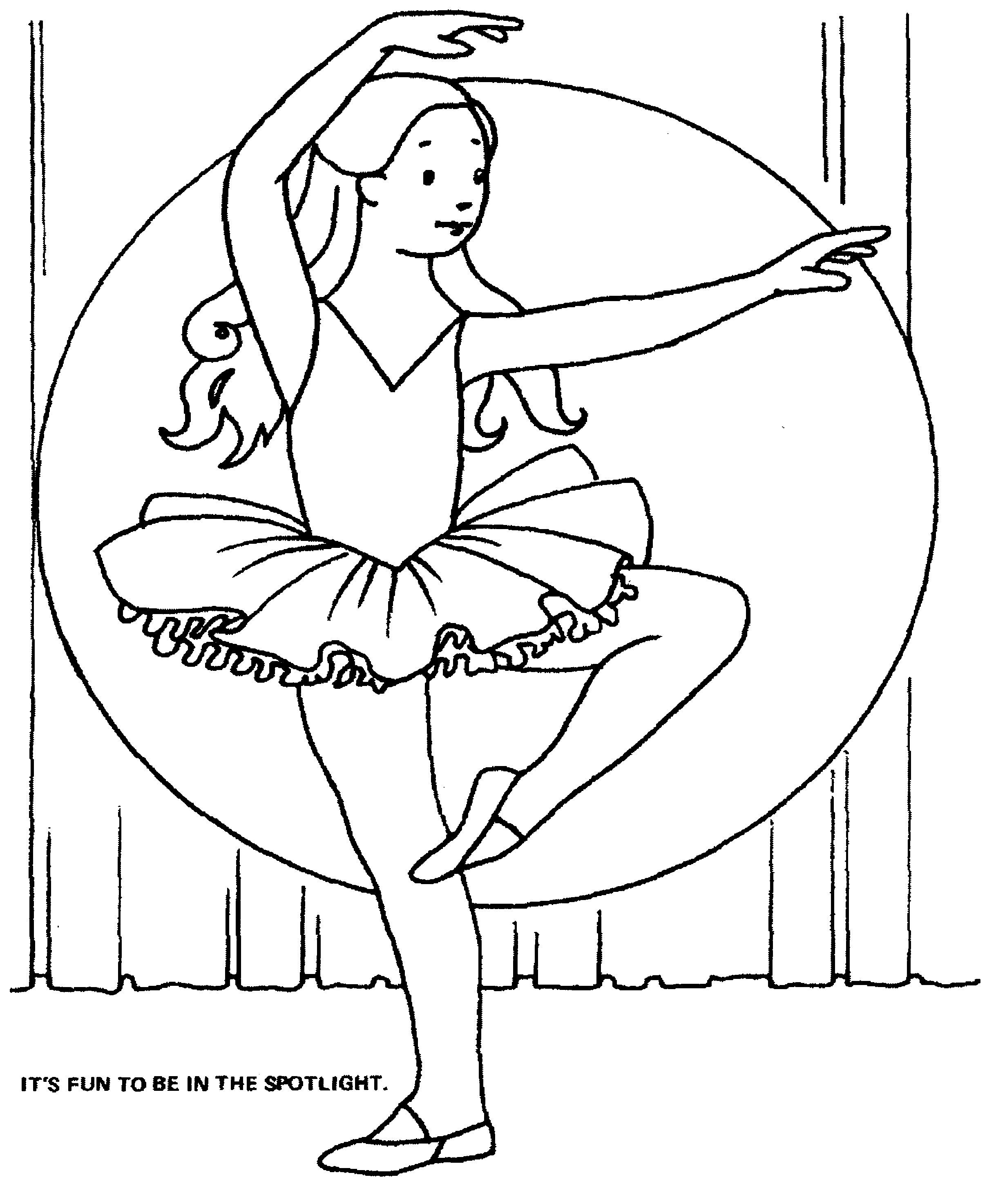ballerina in the spotlight | coloring pages | Pinterest | Dibujos ...
