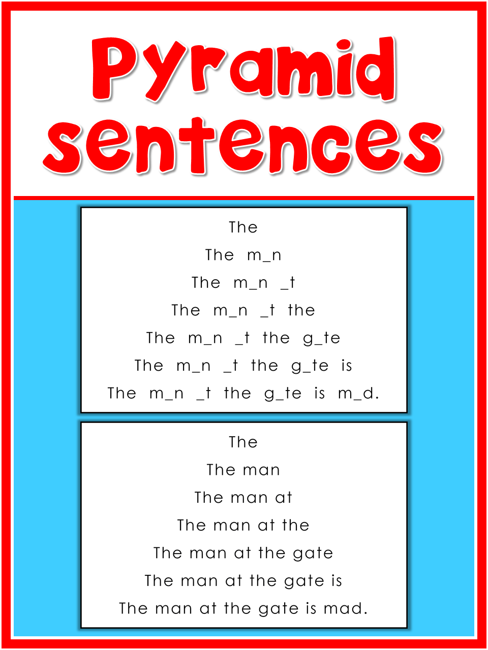 Letter A Pyramid Sentences This Set Is Great For Beginning Readers To Practice Reading Sentences With The Letter Aa Reading Tutoring Sentences Writing Photos [ 1280 x 960 Pixel ]