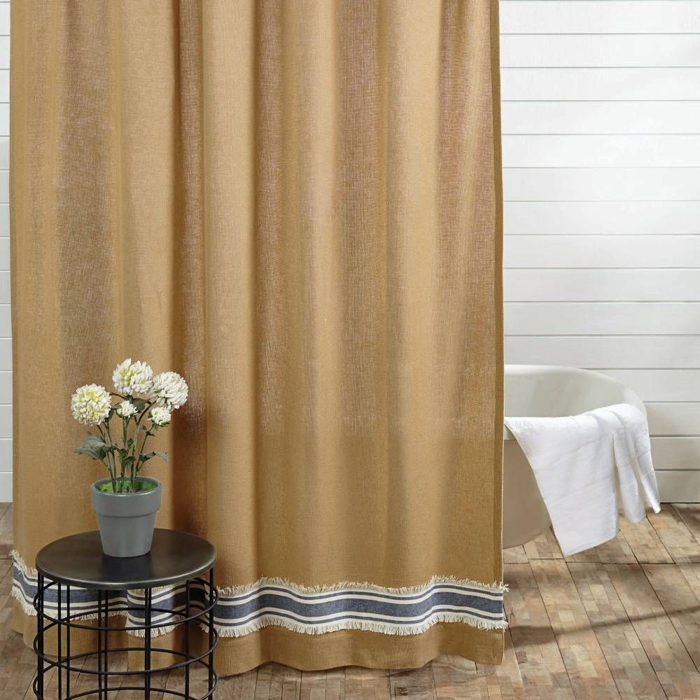 Country Shower Curtains Striped shower curtains