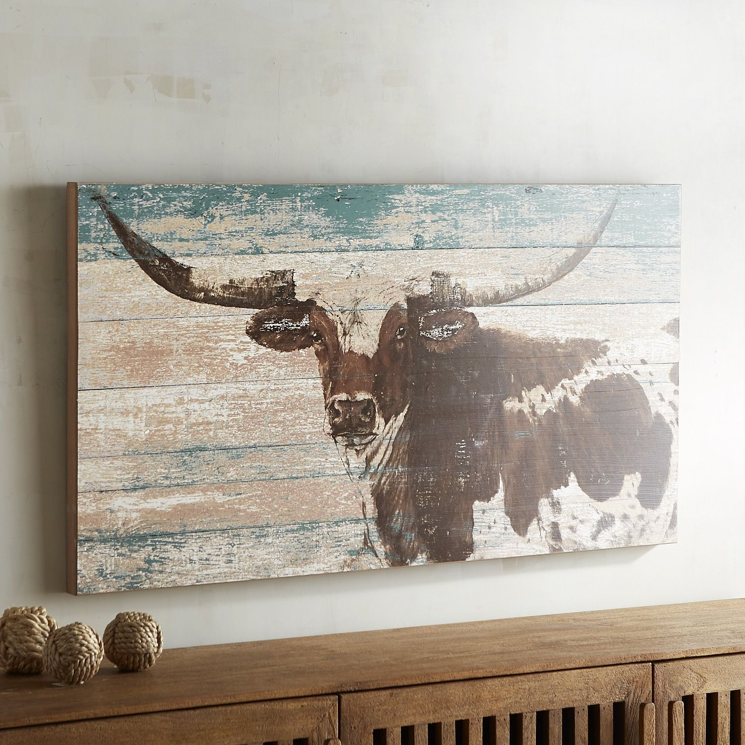 Rustic longhorn wall décor products in 2019 western bedroom
