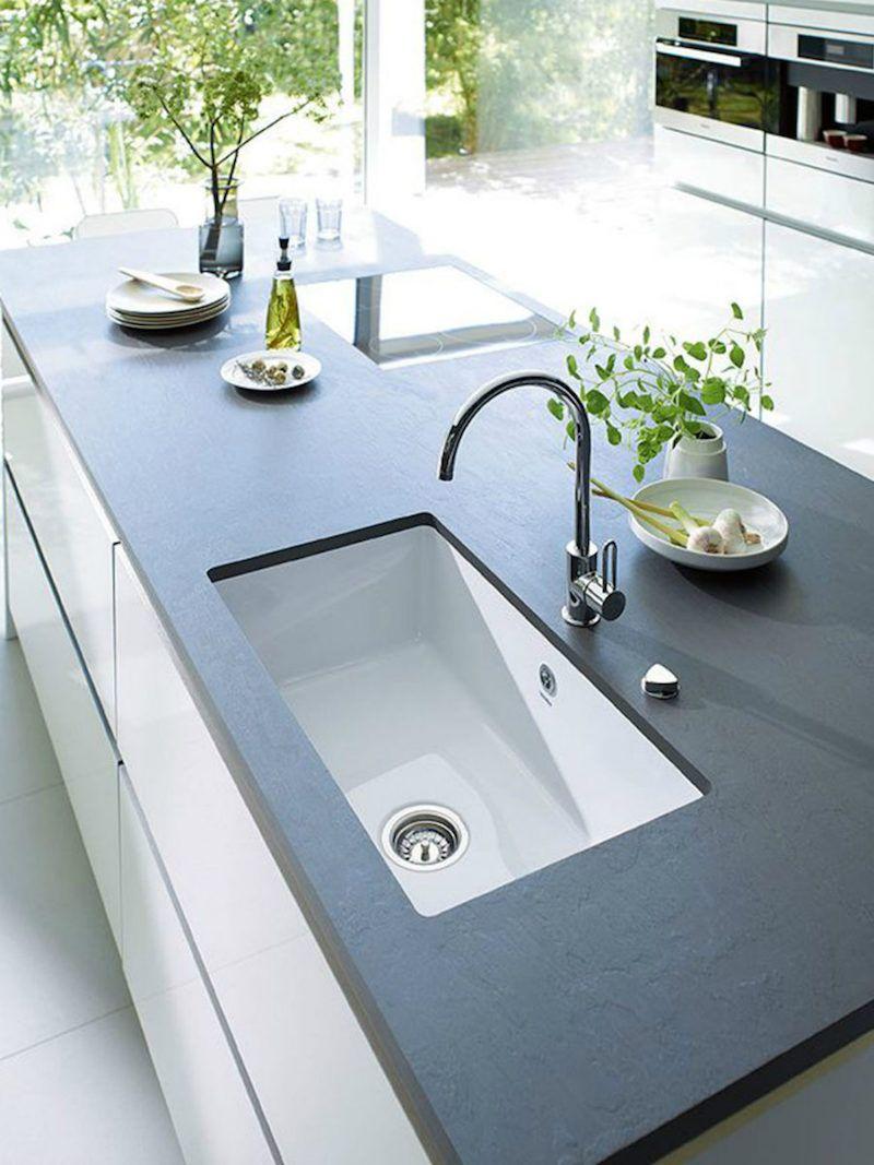 Arbeitsplatte Aus Stein Vergleichen Sie Granit Quarz Speckstein Und Marmor Cuisine Contemporaine Cuisine Moderne Cuisines Design