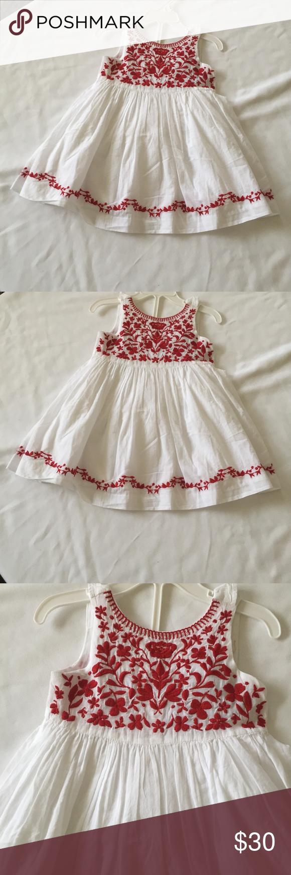 Tahari Baby Girl S 18m White Dress Red Embroidery Tahari Baby Girl S 18m White Dress With Red Embroidery Beautiful Baby Girl Tops Baby Girl Dresses Red Dress [ 1740 x 580 Pixel ]