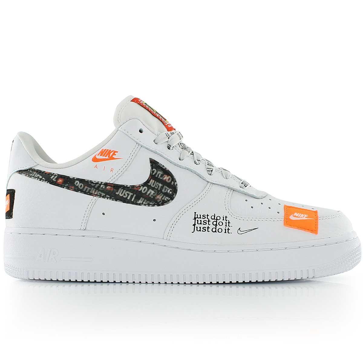 Nike Air Force 1 07 Prm Jdi White White Black Total Orange Sneaker Turnschuhe Damen Streetwear