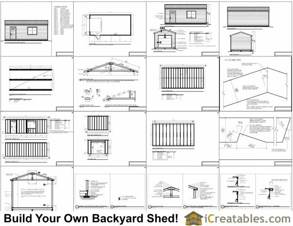 Delicieux 12x24 Shed Plans With Garage Door