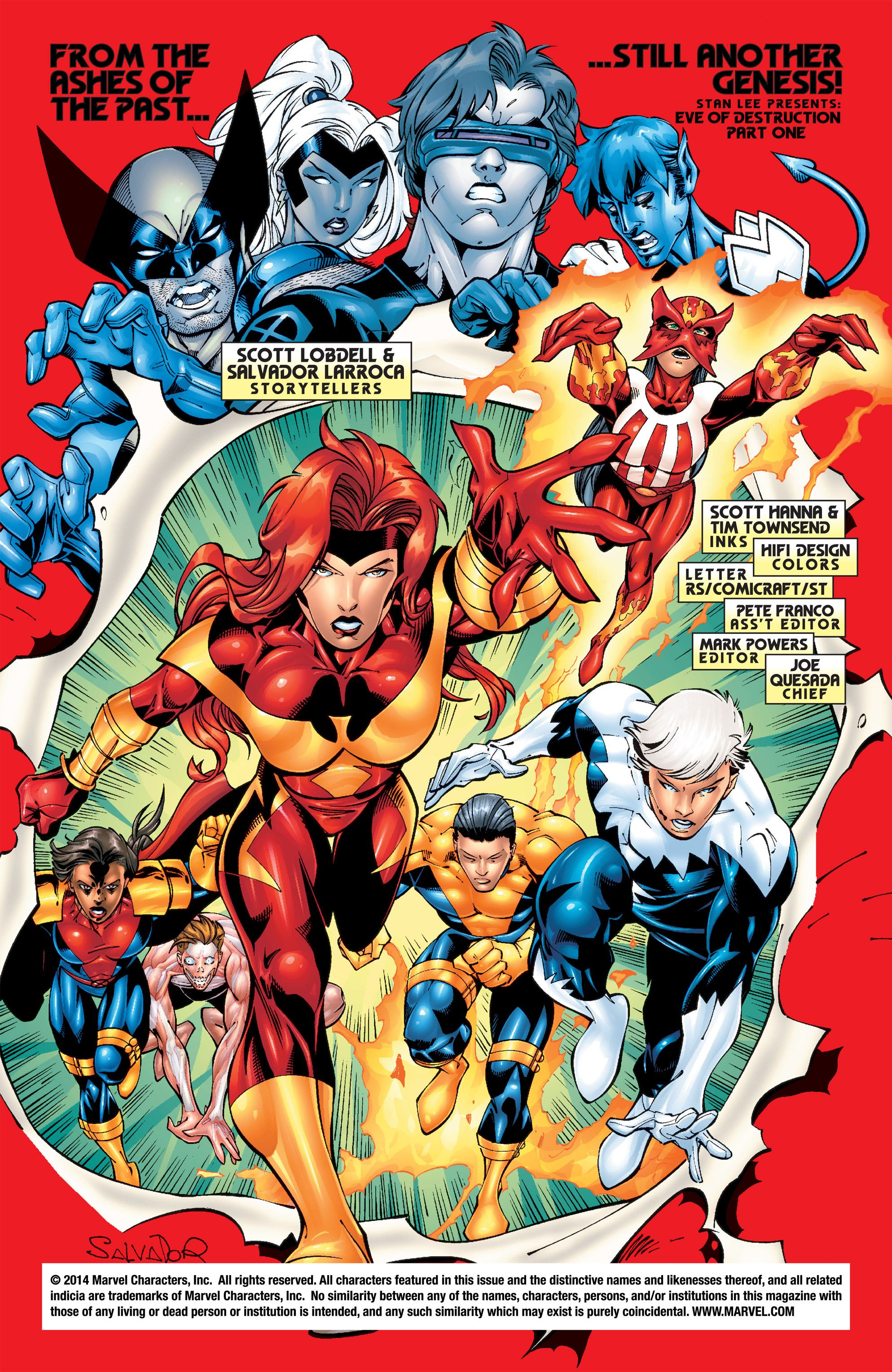 Uncanny X Men Vol 1 392 Art By Salvador Larroca Scott Hanna Tim Townsend Marvel Comics Comic Book Heroes The Uncanny